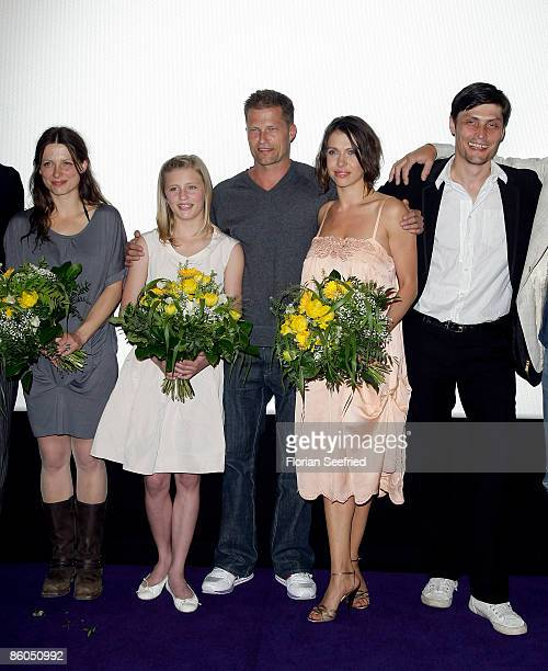 Acrtess Julia Brendler and actress Luna Schweiger and actor and director Til Schweiger and actress Jana Pallaske and actor Stipe Erceg attend the...