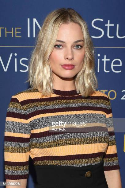 Acrtress Margot Robbie of 'I Tonya' attends The IMDb Studio Hosted By The Visa Infinite Lounge at The 2017 Toronto International Film Festival at...