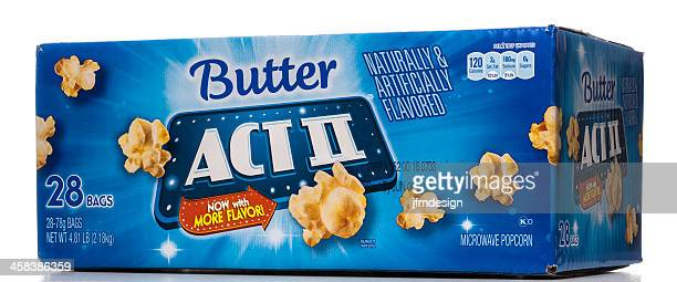 Act II butter microwave popcorn box