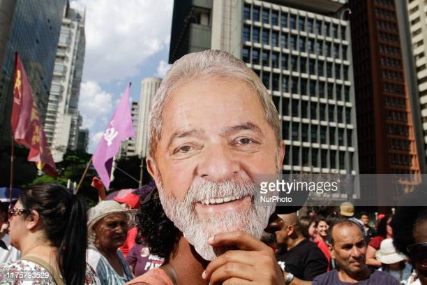 Act led by the social movements unions and the Free Lula Committee demand the freedom of former Brazilian President Luiz Inacio Lula da Silva and...