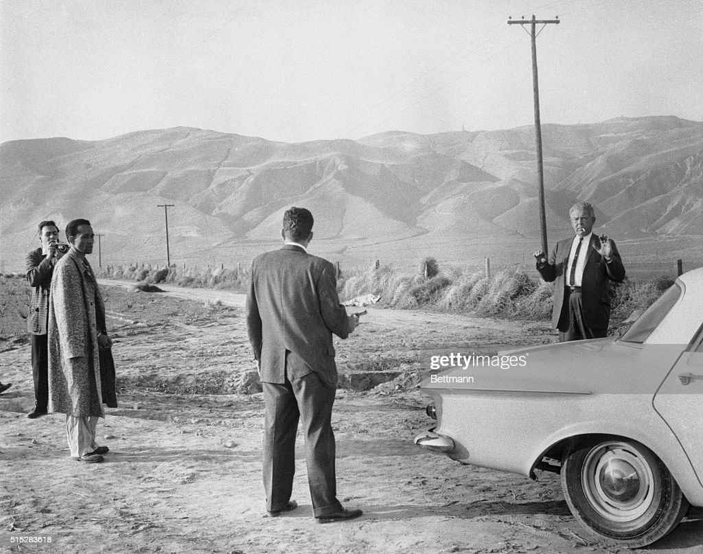 Los Angeles Police Sergeant Glenn H  Bates, , holds his