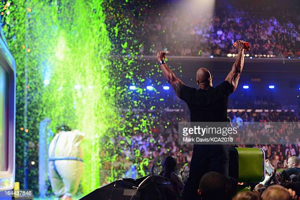 Actdor Dwayne Johnson attends Nickelodeon's 26th Annual Kids' Choice Awards at USC Galen Center on March 23 2013 in Los Angeles California