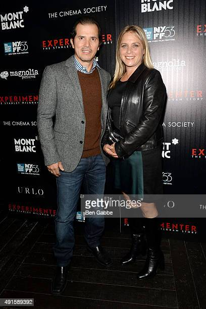 Acter John Leguizamo and wife Justine Maurer attend the party for the 53rd New York Film Festival's premiere of Magnolia Pictures' Experimenter...