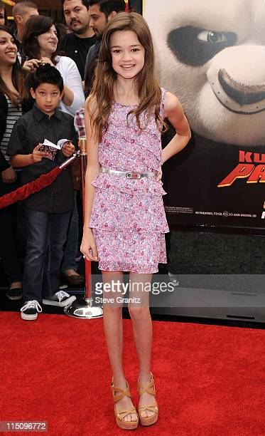 Acterss Ciara Bravo arrives at the Los Angeles premiere of 'Kung Fu Panda 2' held at Grauman's Chinese Theatre on May 22 2011 in Hollywood California