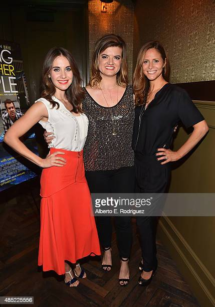 Actess Alison Brie writer/director Leslye Headland and actress Andrea Savage attend a Tastemaker Screening of IFC Films' 'Sleeping With Other People'...