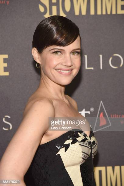 "Actess Carla Gugino attends the ""Billions"" Season 2 premiere at Cipriani 25 Broadway on February 13, 2017 in New York City."