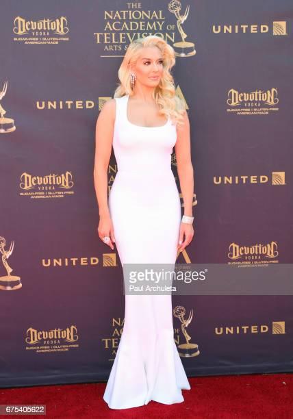 Actess / Singer Erika Jayne attends the 44th annual Daytime Emmy Awards at Pasadena Civic Auditorium on April 30 2017 in Pasadena California