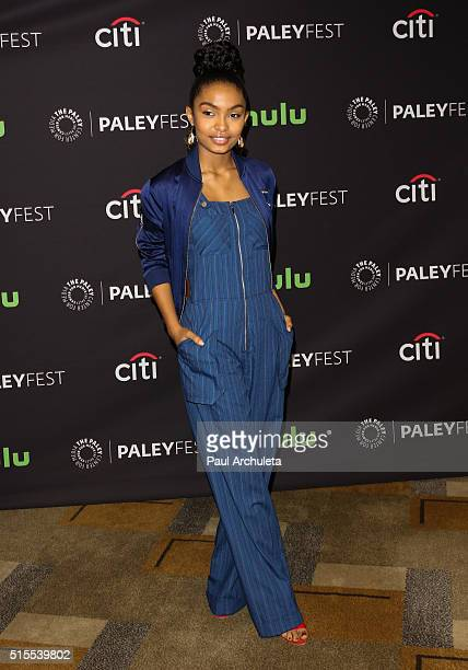 Actess Yara Shahidi attends the 33rd Annual PaleyFest Los Angeles featuring 'Blackish' at the Dolby Theatre on March 13 2016 in Hollywood California