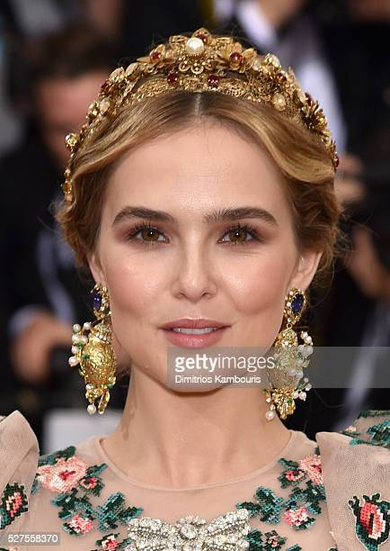 Actess Zoey Deutch attends the 'Manus x Machina Fashion In An Age Of Technology' Costume Institute Gala at Metropolitan Museum of Art on May 2 2016...
