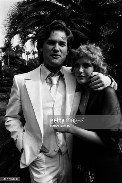 L'acteur américain Kurt Russel et sa femme Season Hubley lors du Festival de Cannes le 21 mai 1979 France