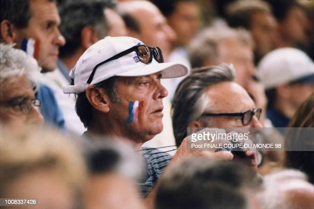 L'acteur américian Jack Nicholson supporter de l'Equipe de France de football en finale 12 juillet 1998 Saint Denis France