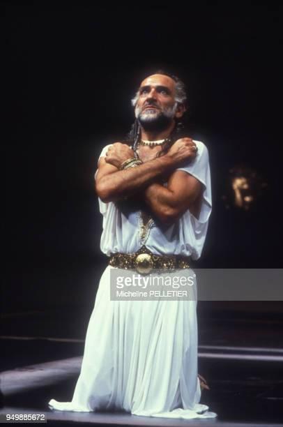 L'acteur Ben Kingsley joue 'Othello' au théâtre le 17 septembre 1985 à Londres RoyaumeUni