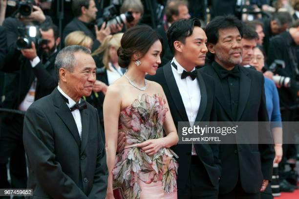 L'acteur Chang Chen l'actrice Shu Qi et le réalisateur Hou HsiaoHsien lors de la première du film 'La glace et le ciel' et de la cérémonie de clôture...
