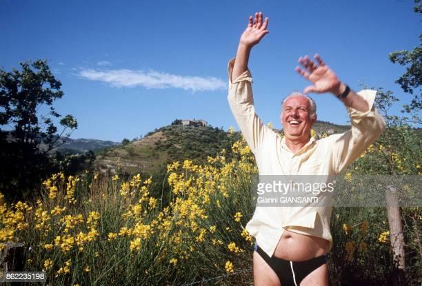 L'acteur et écrivain italien Dario Fo à Gubbio en juillet 1984 Italie