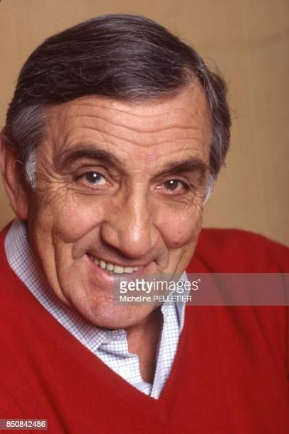 L'acteur français Lino Ventura à Paris en mars 1984 France