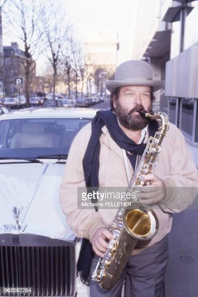 L'acteur italien Bud Spencer à Paris le 29 novembre 1984 France