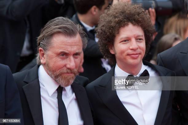 L'acteur Tim Roth et le réalisateur Michel Franco lors de la première du film 'La glace et le ciel' et de la cérémonie de clôture du 68eme Festival...