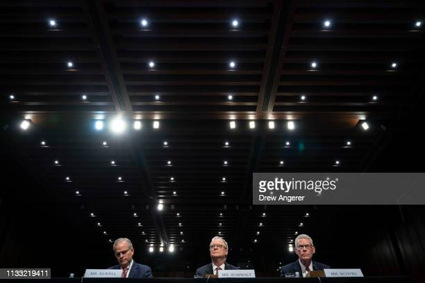 Acting administrator of the Federal Aviation Administration Daniel Elwell Chairman of the National Transportation Safety Board Robert Sumwalt and...