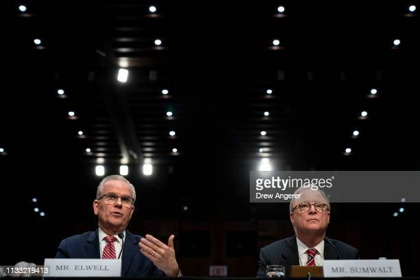 Acting administrator of the Federal Aviation Administration Daniel Elwell and Chairman of the National Transportation Safety Board Robert Sumwalt...