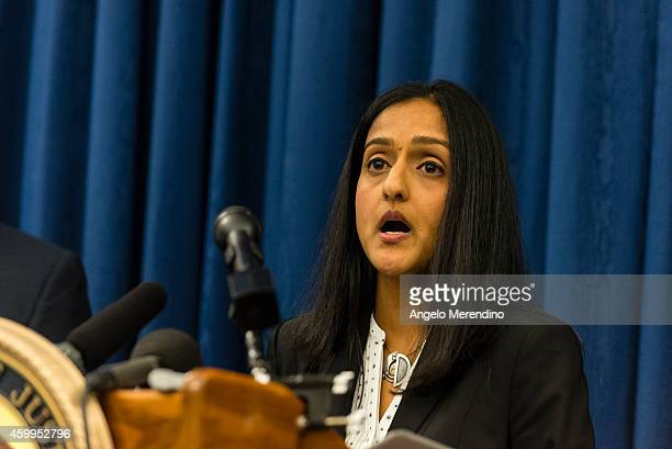 Acting Assistant Attorney General Vanita Gupta speaks to reporters at a press conference on December 4, 2014 oin Cleveland, Ohio. U.S. Attorney...