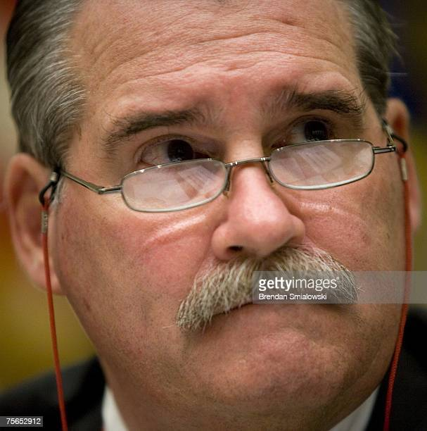 Acting Assistant Defense Secretary for Homeland Defense Pete Verga listens during a joint meeting of the House Armed Services Committee and House...
