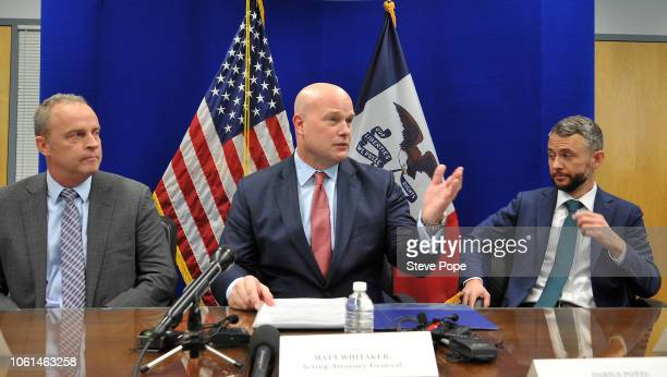 Acting Attorney General Matthew G Whitaker gives brief remarks to state and local law enforcement on efforts to combat violent crime and the opioid...