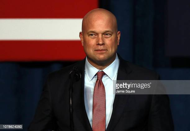 Acting Attorney General Matthew Whitaker addresses the Project Safe Neighborhoods National Conference on December 07 2018 in Kansas City Missouri...