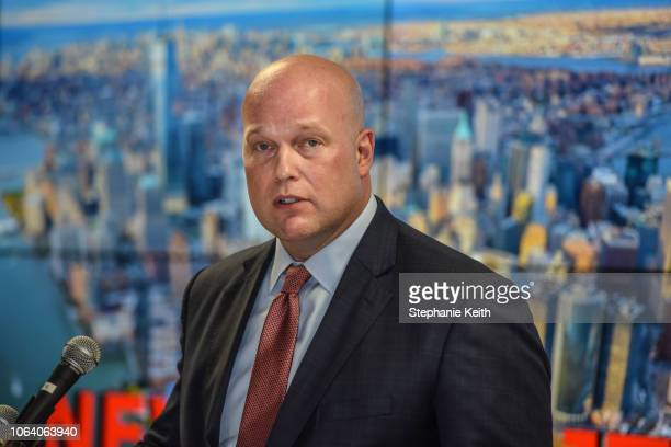 Acting Attorney General Matthew Whitaker delivers remarks to the Joint Terrorism Task Force on November 21 2018 in New York City Whitaker was...