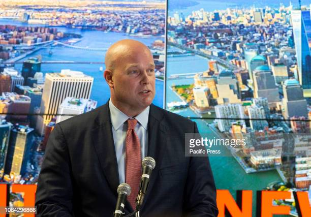 Acting Attorney General Matthew Whitaker delivers remarks to the Joint Terrorism Task Force at New York FBI field office