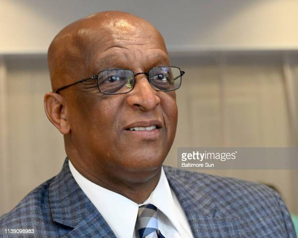 Acting Balitmore Mayor Bernard C Jack Young speaks to the media after a press conference at Baltimore City Community College on April 23 2019 in...