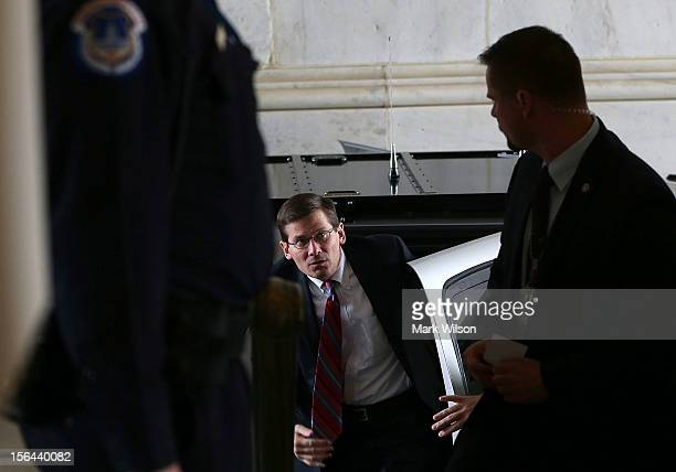 Acting CIA Director Michael Morell arrives at the Capitol to attend closeddoor meetings about ongoing intelligence activities related to the attack...