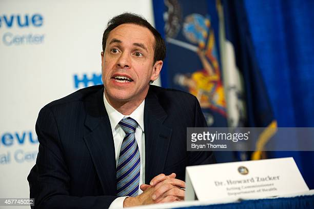 Acting Commissioner of the Department of Health Dr Howard Zucker speaks at a press conference October 23 2014 in New York City Dr Howard Zucker along...