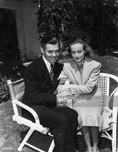 Acting couple Clark Gable and Carole Lombard shortly after their surprise wedding
