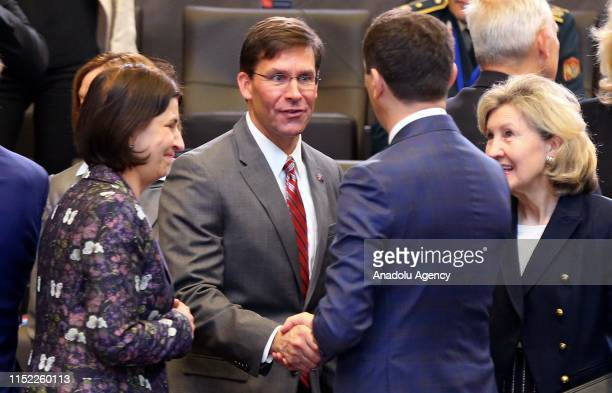 Acting Defense chief of United States Mark Esper attends the NATO Defense Ministers' meeting in Brussels Belgium on June 27 2019
