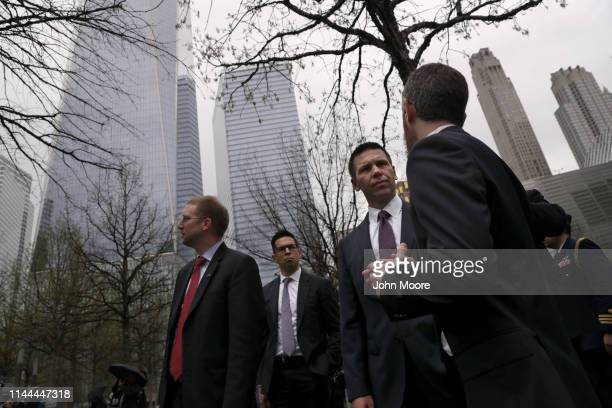 Acting Department of Homeland Security Secretary Kevin McAleenan visits the September 11 Memorial on April 22 2019 in New York City McAleenan also...