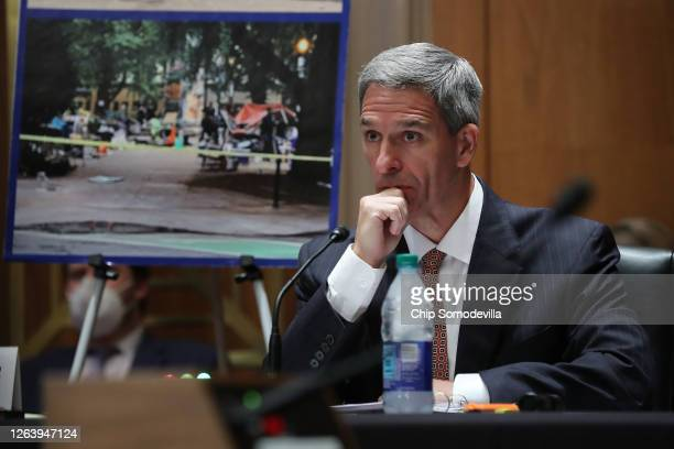 Acting Deputy Secretary of Homeland Security Ken Cuccinelli testifies before the Senate Judiciary Committee's Subcommittee on the Constitution about...