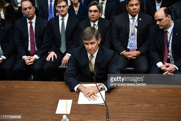 Acting Director of National Intelligence Joseph Maguire arrives to testify before a hearing of the House Permanent Select Committee on Intelligence...