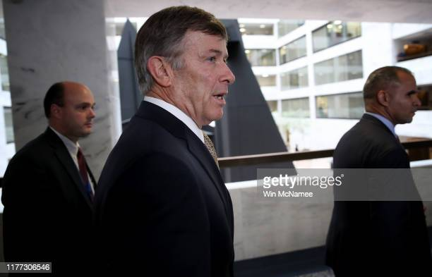Acting Director of National Intelligence Joseph Maguire leaves a closed session with the Senate Select Committee on Intelligence on Capitol Hill...