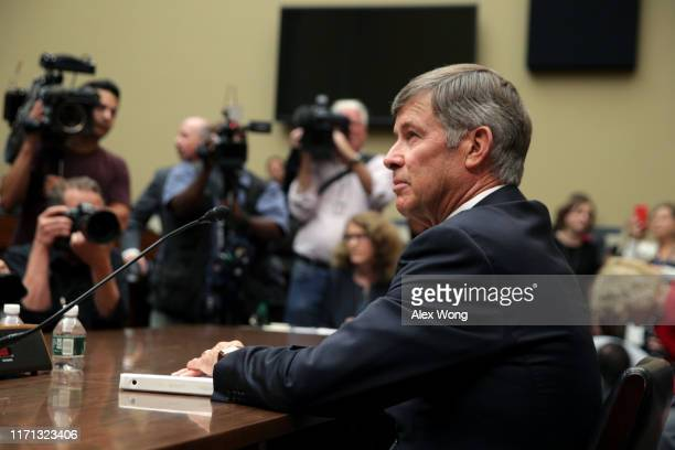 Acting Director of National Intelligence Joseph Maguire prepares to testify before the House Select Committee On Intelligence in the Rayburn House...