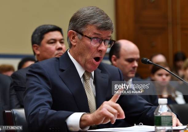 Acting Director of National Intelligence Joseph Maguire testifies before a hearing of the House Permanent Select Committee on Intelligence on...
