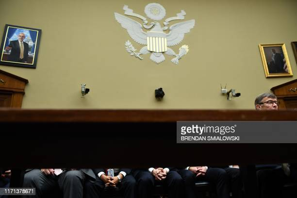 TOPSHOT Acting Director of National Intelligence Joseph Maguire testifies before a hearing of the House Permanent Select Committee on Intelligence on...