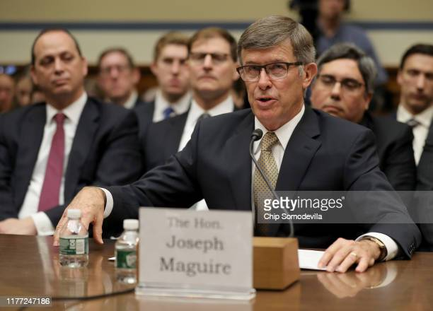 Acting Director of National Intelligence Joseph Maguire testifies before the House Select Committee on Intelligence in the Rayburn House Office...
