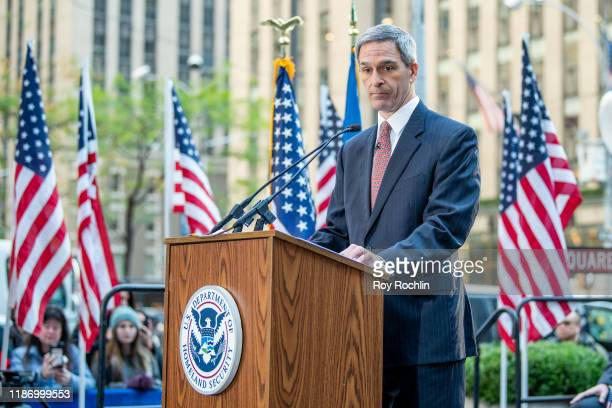 """Acting Director of USCIS, Ken Cuccinelli during the """"Fox & Friends"""" naturalization ceremony for Veterans Day at Fox News Channel Studios on November..."""