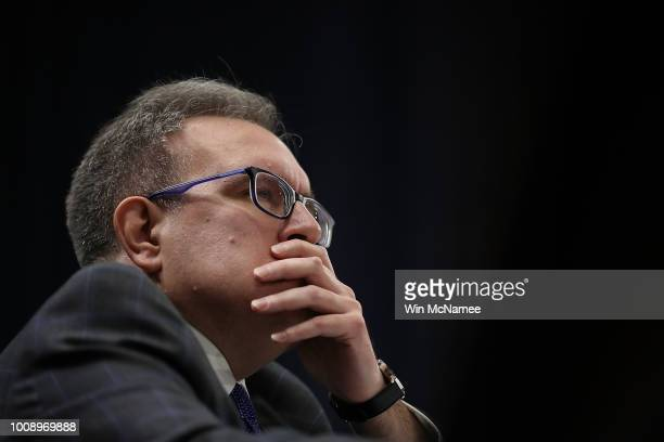 Acting EPA Administrator Andrew Wheeler testifies before the Senate Environment and Public Works Committee August 1 2018 in Washington DC Wheeler...