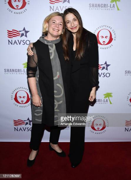 Acting Executive Director Susan Pollack and actress Marin Hinkle arrive at the VIP post show reception with Al Pacino benefiting SCLA Veterans In Art...