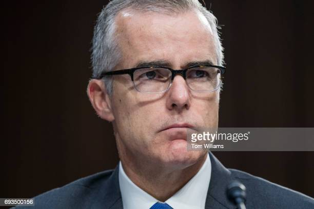 Acting FBI Director Andrew McCabe appears before a Senate Select Intelligence Committee hearing in Hart Building on June 7 2017
