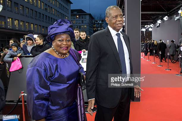 Acting FIFA President Issa Hayatou arrives for the FIFA Ballon d'Or Gala 2015 at the Kongresshaus on January 11, 2016 in Zurich, Switzerland.