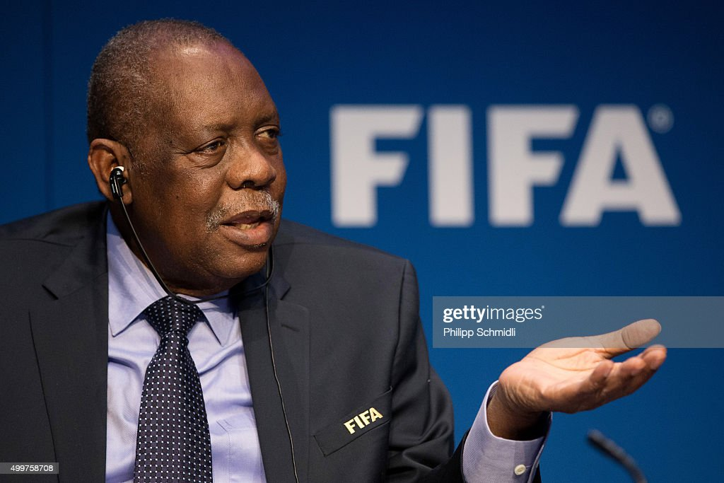 Acting FIFA President Issa Hayatou attends a FIFA Executive Committee Meeting Press Conference at the FIFA headquarters on December 3, 2015 in Zurich, Switzerland.
