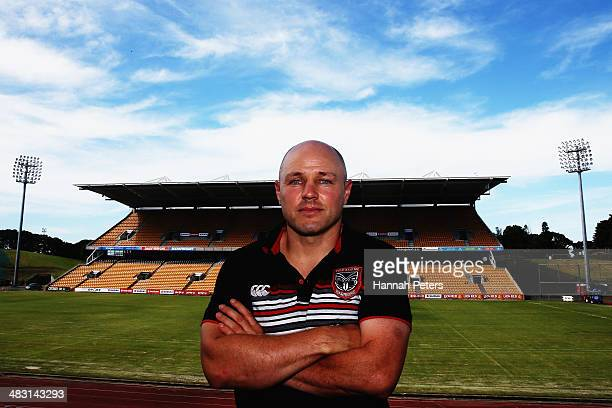 Acting head coach of the Warriors Andrew McFadden poses for a photo following a New Zealand Warriors NRL media session announcing the resignation of...