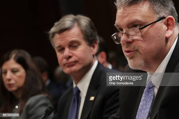 Acting Homeland Security Secretary Elaine Duke Federal Bureau of Investigation Director Christopher Wray and National Counterterrorism Center...